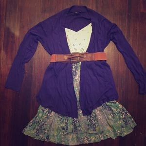 Sweaters - 🙌Express Purple Asymmetrical Cardigan